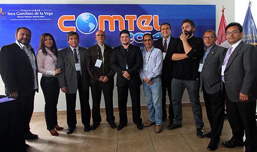 Palestrantes e organizadores do VI COMTEL (estou no meio)